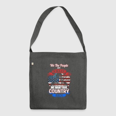 country - Schultertasche aus Recycling-Material