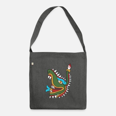 Mayan Mayan crocodile - Shoulder Bag recycled