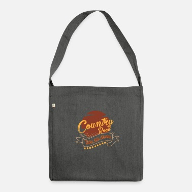 Country Country musik country musik country musik gave - Skuldertaske af recycling-material