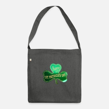 Ulster Happy St. Patricks Day Three leaf clover - Shoulder Bag recycled