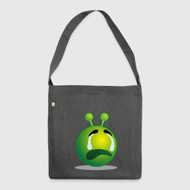 so traurig :( - Schultertasche aus Recycling-Material