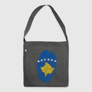 KOSOVO FINGERPRINT. KOSOVO COSOVARE GIFT - Shoulder Bag made from recycled material