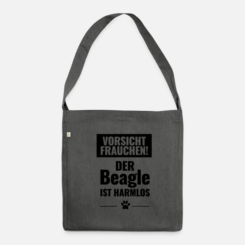 Birthday Bags & Backpacks - be careful - Shoulder Bag recycled dark grey heather