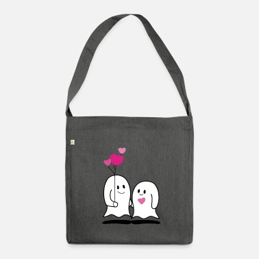 Amor Amorous ghosts / amorous ghosts / in love - Shoulder Bag recycled