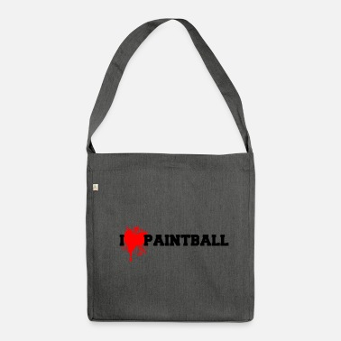 Paintball paintball - Schultertasche aus Recycling-Material