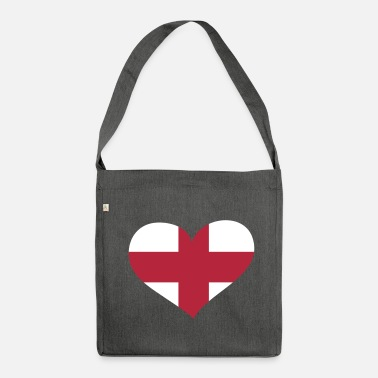 England England Herz; Heart England - Shoulder Bag made from recycled material