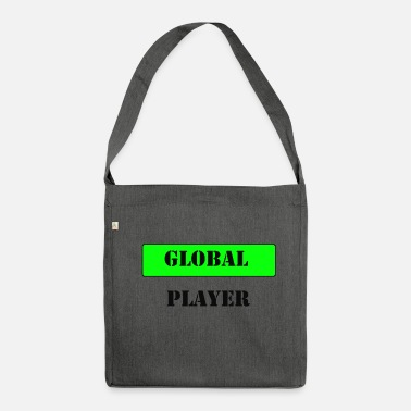 Global Global Player - Umhängetasche aus Recyclingmaterial
