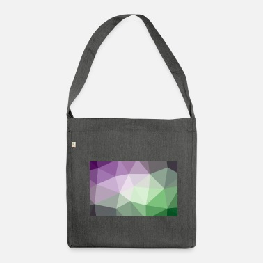 Polygon pattern - Shoulder Bag recycled