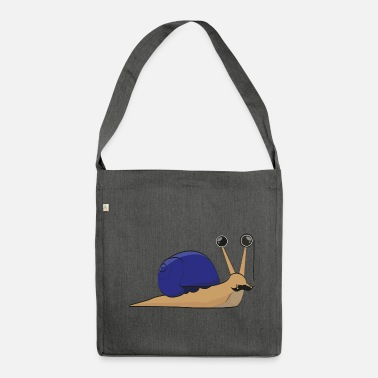 Wealthy The wealthy snail - gift idea - Shoulder Bag recycled