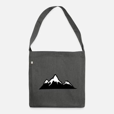 Alps Mountains Mountains, Alps, mountain, hiking - Shoulder Bag recycled