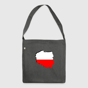 Geographic Polska Poland flag in geographic form - Shoulder Bag made from recycled material