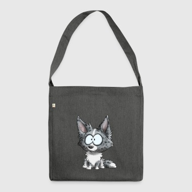 I'm Border Collie - Merle Blue - Shoulder Bag made from recycled material