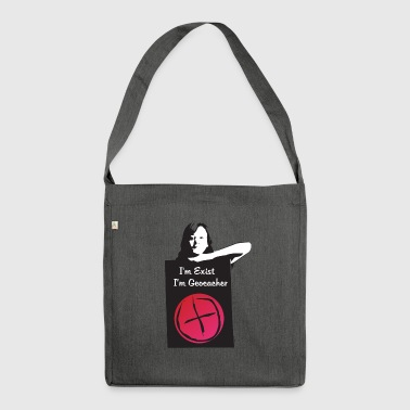 Donna di geocaching - Borsa in materiale riciclato
