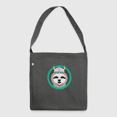 Viking sloth with helmet - Shoulder Bag made from recycled material