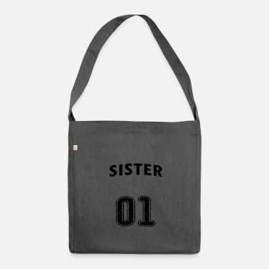 Sister SISTER - BEST SISTER - BEST SISTER - SISTER - Shoulder Bag made from recycled material