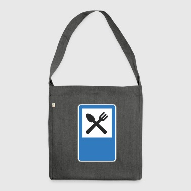 Road sign restaurant - Shoulder Bag made from recycled material