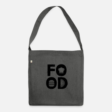 Food FOOD - food lover gift idea - Shoulder Bag recycled