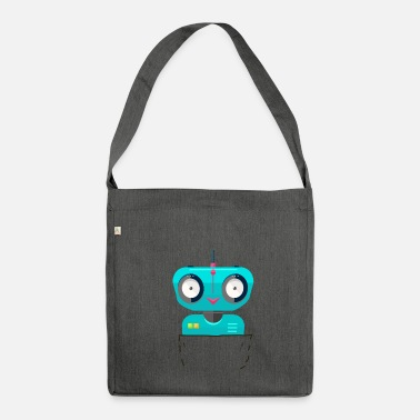 Scifi pocket robot bags robot scifi - Shoulder Bag recycled