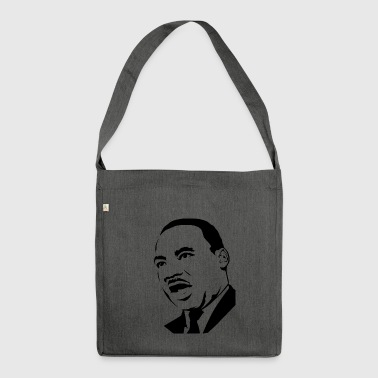 martin luther king stencil - Sac bandoulière 100 % recyclé
