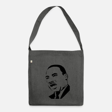 Stencil martin luther king stencil - Sac bandoulière recyclé