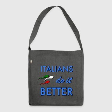 Football italians do it better - Shoulder Bag made from recycled material