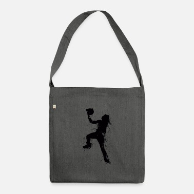 Slam Dunk Slam dunking basketball player - Shoulder Bag made from recycled material