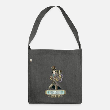 Vintage Collection Steampunk-Generation - Schultertasche aus Recycling-Material