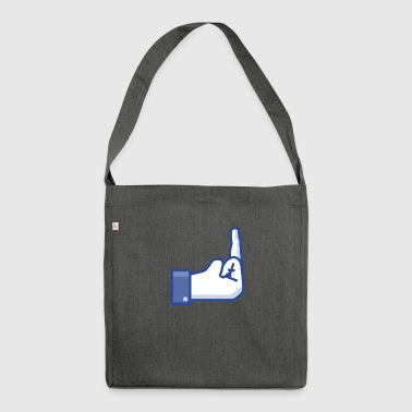 middle finger - Shoulder Bag made from recycled material