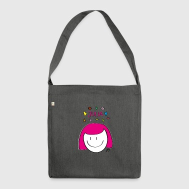 Illustration Julia - Schultertasche aus Recycling-Material