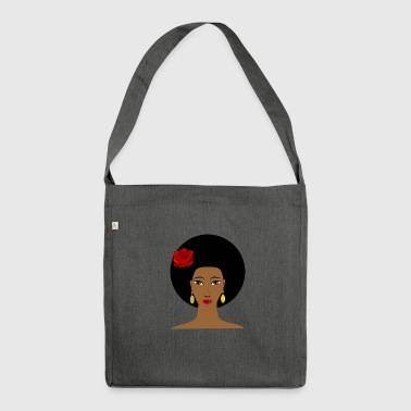 Afro Amerikanerin - Schultertasche aus Recycling-Material