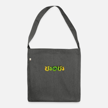 Word word - Shoulder Bag made from recycled material