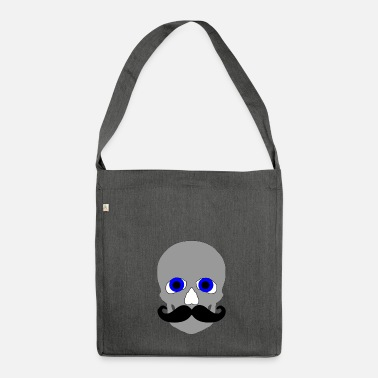 Bald bald skull - Shoulder Bag made from recycled material