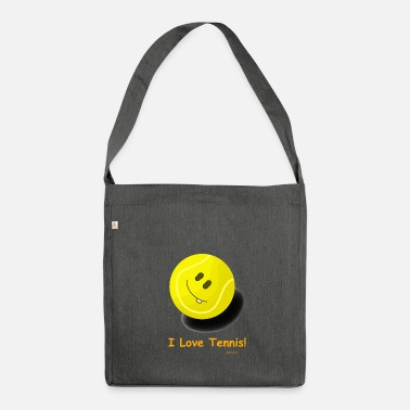 I Love Tennis Tennis Ball - I love tennis! - Shoulder Bag made from recycled material