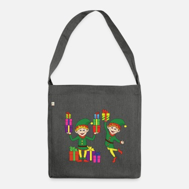 Elf Christmas Elf Elf Christmas Christmas Xmas - Shoulder Bag made from recycled material