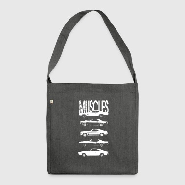 Muscles cars - Shoulder Bag made from recycled material