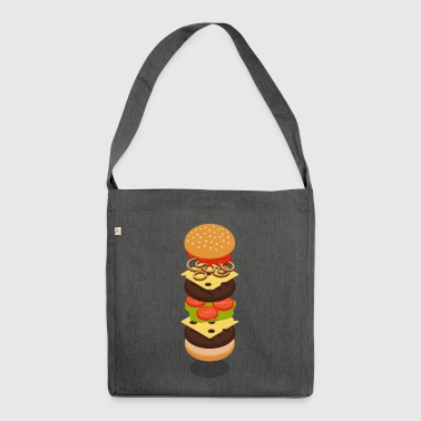 Isometric Burger Tower - Schultertasche aus Recycling-Material