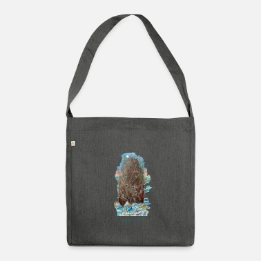 Poet island of the poets - Shoulder Bag made from recycled material