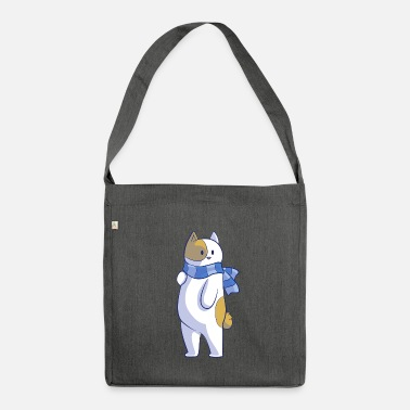 Stand Standing Cat - Shoulder Bag recycled
