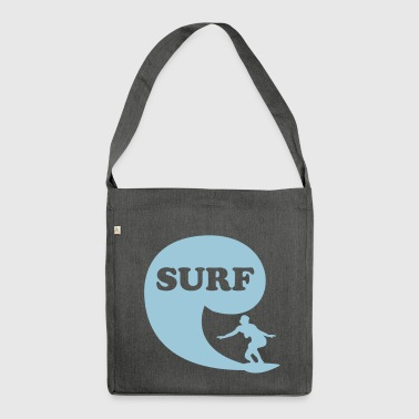 Surfin' Bird - surf - Shoulder Bag made from recycled material