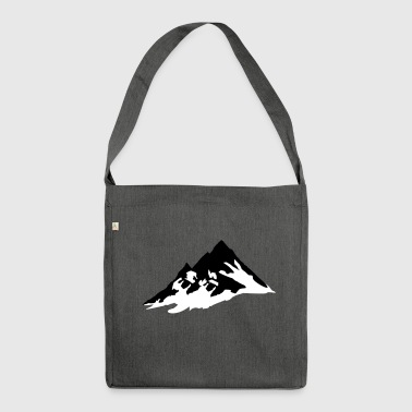 Berg Berge, Berg - Schultertasche aus Recycling-Material