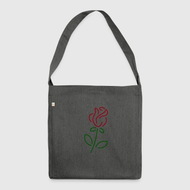 Rose rose - Shoulder Bag made from recycled material