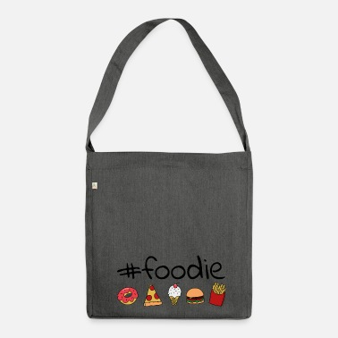 Foodie #foodie - Schultertasche aus Recycling-Material