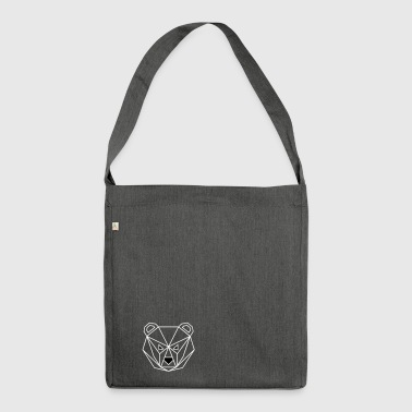 Bear outline - Shoulder Bag made from recycled material