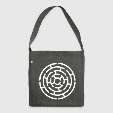 Maze cartoon Maze (approximately) - Shoulder Bag made from recycled material