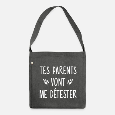 Drague Couple - drague - Tes parents - Sac bandoulière 100 % recyclé