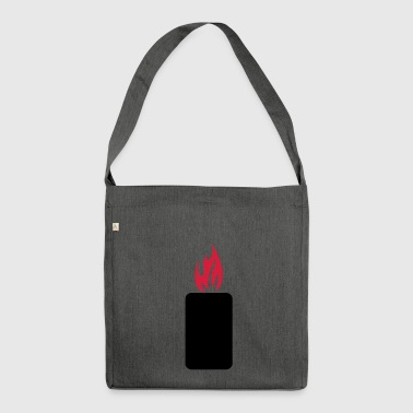 mobile phone brand - Shoulder Bag made from recycled material