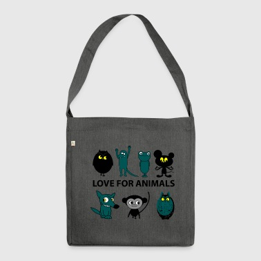 love for animals - Schultertasche aus Recycling-Material