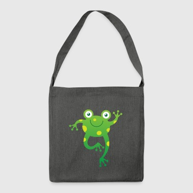 Smiling Little Frog - Shoulder Bag made from recycled material