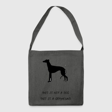 Windhund - Schultertasche aus Recycling-Material