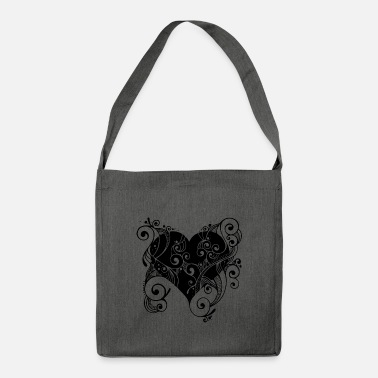 Tatoo Tatoo heart - Shoulder Bag made from recycled material